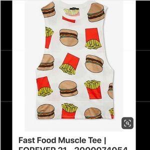 Burgers & Fries Muscle Tee  💪